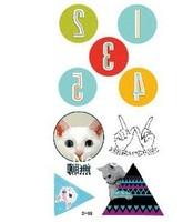 Fashion owl  triangle circle digital  Temporary    tattoo stickers