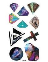 Cross diamond letter temporary waterproof tattoo stickers