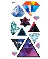 Fashion Temporary diamond magic colorful moon tattoo stickers