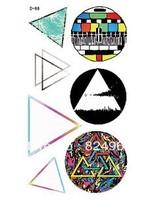 Fashion temporary triangular logo body stickers