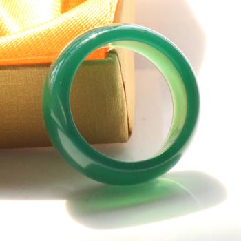 tinggi cincin hijau Jade batu akik cincin indah Mode Jade Cincin