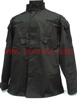 Loveslf SWAT US Army Black 4 Pocket BDU Uniform Shirt Pants military camouflage Uniform garment Set