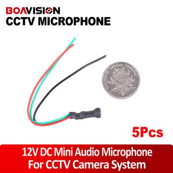 DC12V Power 10~50m2 Impedance Mini CCTV Microphone Camera Audio Surveillance DVR Mic Audio Cable