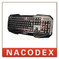A-Jazz k-701 ergonomic electric multimedia USB LED backlight gaming keyboard Red Backlit