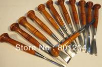 Sharped 12pcs/set  WOOD CARVING tools high quality chisel