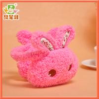 High quality rabbit plush earmuff toy soft earflap toy plush warmer winter toy