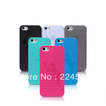 TPU Tangram Ultra-thin Cover Case + Screen Protector for iPhone 5 free shipping