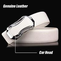 2014 Free shipping Men's cowhide genuine leather brief belt male strap Shape Metal men belt Ceinture metal car Buckle YD04