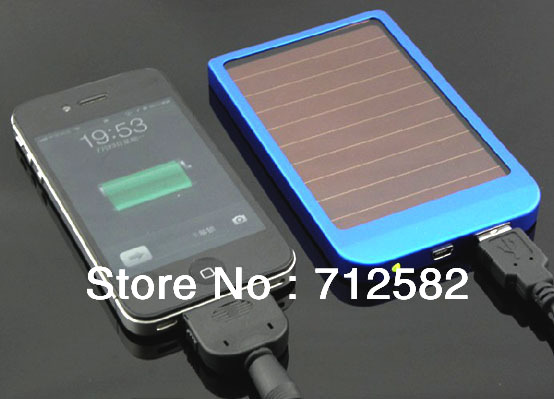 full 2600mAh solar charger for mobile phone panel power bank external battery pack 5.5V 800mA free shipping(China (Mainland))