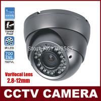 700TVL Sony Effio-E CCD 2.8mm-12mm Varifocal Camera Surveillance CCTV Camera 36 IR Indoor Outdoor CCTV Dome Security Camera