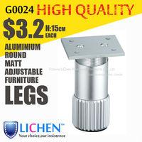 Round Aluminium alloy legs Height 15cm adjustable furniture Legs&Cabinet Legs(4 pieces/lot) LICHEN sofa feet B0024-150