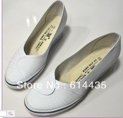 2013 the latest Plate white shoes wedges women&#39;s plus size shoes canvas shoes work shoes XZ003 AAA(China (Mainland))