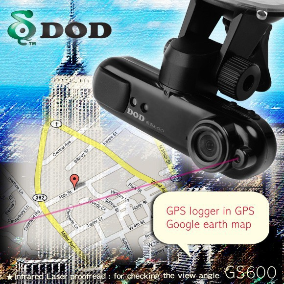 Free Shipping!DOD GS600 GPS LOGGER CAR DVR!RUSSIAN MENU!NICE NIGHT VISION!30/60 FPS!TS TECH!YOUR NECESSARY!(China (Mainland))
