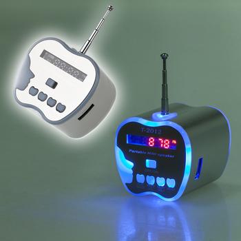 Silver Portable Micro SD TF USB Mini Stereo Speaker Music Player FM Radio PC Mp3 # L01387