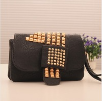 Free shipping! 2013 spring and summer fashion punk rivet multifunctional female bags bag