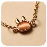 (Min order is $10) Han edition retro moonstone lovely delicate rabbit bracelet