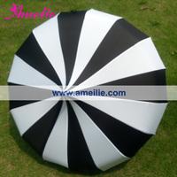 Free Shipping Cheap Straight Pagoda umbrella Black and White Stripe Patterns Sun Umbrella