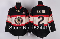 Free shipping Chicago Blackhawks #2 Duncan Keith 3rd Jersey A patch, Embroidery logos,size 48-56,mix order