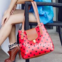 Summer messenger bag polka dot vintage bags candy color messenger bag large capacity shoulder bag women's handbag free shipping