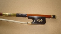 Cello bow pernambuco bow stick, Ebony frog, gold mounted cello bow of SFC990