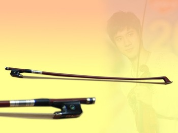 Cello bow pernambuco bow stick, Ebonyl frog, silver mounted cello bow of SFC960