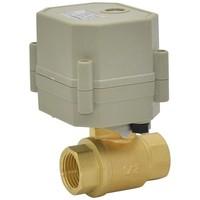 AC110V-230V Automatic Control Valve BSP/NPT 1/2'' Brass Valve for HVAC Solar Water Heater