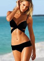 Top Quality 2014 Neoprene Bikinis Women's Sexy Triangle Bikini Push Up Swimsuit Set High Quality Beach Bikinis Swimwear