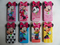 2pcs Newest Mickey Minnie Mouse Soft TPU silicone Skin Case Cover for iphone 5 5G with Lovely Ear