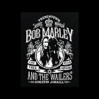 High Quality Bob Marley Live Free Reggae Rasta Black 100% Cotton Casual Loose Printing T-shirt Tee T Dress Camisetas Clothing