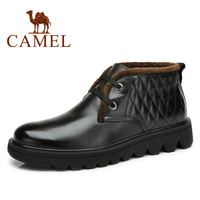 Camel shoes genuine leather fleece lined thermal male boots 82084600