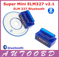 New smallest Blue Super mini ELM327 Bluetooth OBDII V1.5 can bus OBD2 Scanner ELM 327 Bluetooth Car Scan Tool supporting Android