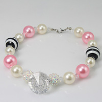 2013 chunky fashion necklaces sweet  chunky bubblegum necklace for litter children