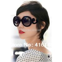 10820 free shipping 2014 fashion tops sunglasses  vintage  Hot Products Retro round Sun glasses women,  brand designer wholesale