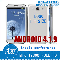 full hd 1:1 size I9300 galaxy S3 phone 512MB RAM 960*540 MTK6575 dual core 1.4Ghz 4GB rom android 4.0 wifi 3d touchscreen(China (Mainland))