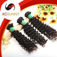 XCSUNNY 5A Unprocessed 12-26Inch 3pcs Mix Length Deep Wave 100% Brazilian Virgin Remy Human Hair Weft Weave 100g/pcs BVH020