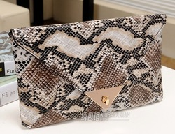 2013 Fashion women snake clutch bags envelope purse Shoulder Clutch Evening Bag with colors elegant PU Leather Free shipping(China (Mainland))