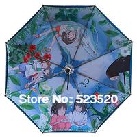 Free shipping  Ghibli umbrella  Hayao Miyazaki umbrella Spirited Away anime umbrella UV umbrellas