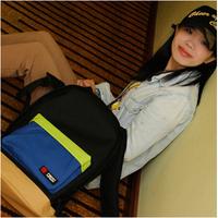 Pure Color Block Canvas Travel Bag Women's Backpack Student School Bags Backpacks Mochila