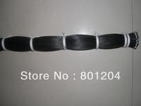 100 hanks of black horse hair in 32 inches (6g/hank) totally 600 grams