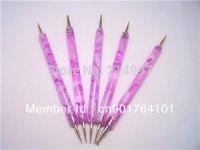 New Design Pink Color Nail Dotting Pen Double Use 5pcs Nail Tools Brush Set ePacket Free Shipping