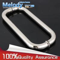 H003 Frameless Bath room Shower Door Handle 304 stainless steel Polish Chrome hardware