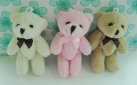 8cm Tinny bear, jointed teddy bear, joint small bears. for cellphone, key chain. Promotional items freeshipping