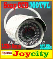 CCTV Camera 1/3 Sony CCD 700TVL 36leds IR Night Day Vision Waterproof Surveillance Video Camera Free Shipping Joycity