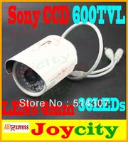 CCTV Camera 1/3 Sony CCD 600TVL Waterproof 36Leds IR Night Vision Surveillance Video Camera In Or Outdoor  Free Shipping Joycity