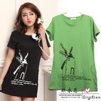 New women plus size M L XL XXL XXXL summer casual short sleeve Windmill T-shirt tee