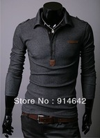 Long sleeve T-shirt, men's fashion leisure cultivate one's morality men's T-shirt Free Shipping,028
