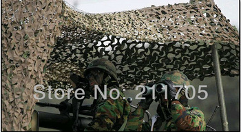 1x2m Car Drop Cloths Hunting Camping Military Camouflage Net Cloth jungle camouflage Woodlands Leaves for Military with Bag