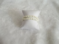 Free Shipping wholesale lots of 50 pcs watch anklet holder Jewelry Display Bracelet Watch Pillow Display Stand  in White 8x9x5cm