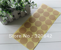 "400pcs free shipping DIY scrawl blank brown KRAFT paper adhesive 1.37"" sealing paste,blank gift stickers,Round Gift seal sticker"
