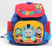 Children Like Bag! Free Shipping 1pc Cartoon Thomas Blue Engine Train Sdler Backpack Rucmall Todksack School bag